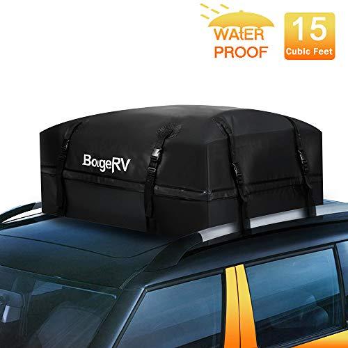 BougeRV Box da Tetto Auto Box Portapacchi Auto 425 Litri Box Portatutto Impermeabile Resistente da 1000D con Cinghie Larghe Adatto per i Viaggi e Trasporto dei Bagagli