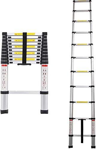3,2M Teleskopleiter, Rutschfester Klappleiter Stehleiter Mehrzweckleiter Aluminium, 150 kg/330 Pfund Belastbarkeit, Mehrzweckleiter für Dachboden/Kletterdach/Büronutzung/Baujob