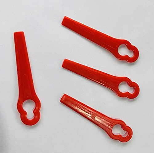 ConPush 100x Rasentrimmer Messer Kunststoff Kunststoffmesser Ersatzmesser für FRT18A FRT18A1 Kunst 46155 FRT20A1 Zubehör