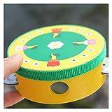 Kinder Musikinstrumente Handglocken Baby Schlagzeuger Glocken Kindermusik Sound Spielzeug Cartoon Print Spielzeug Baby Holzglocken (Color :...