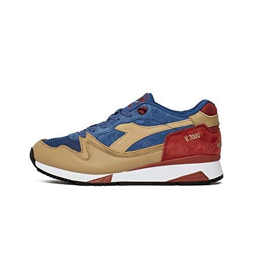 Diadora - V7000 Premium - 172294C7074 - Colore: Rosso-Beige-Blu Marino - Taglia: 42.0