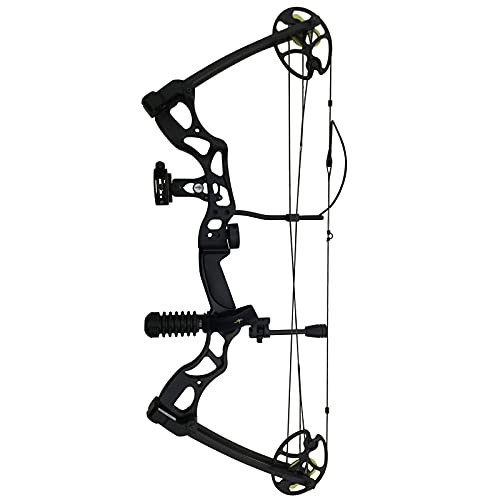 Southland Archery Supply SAS Outrage 70 Lbs 31'' ATA Compound Bow (Black with Full Accessories in Carbon)