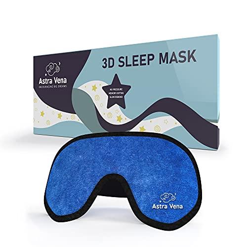 Mega Softe Schlafmaske für Kinder (1 Stk.) I Augenmaske für Mädchen und Jungen I Zu 100{b2beaf4bf0106f183f421aa72fc9869f1bcb1b0798fd2a5f8dc3b34021bfcf46} Lichtundurchlässige I Atmungsaktiv & Schadstofffrei (Blau)