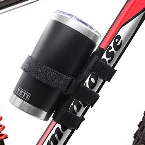 Universal Portable Bike Yeti Bottle Mount Holder, Adjustable Strap Attachment Accessory Holder Bar Rail for YETI Rambler and Tumbler Bottle - Fits Most Yeti Bottles