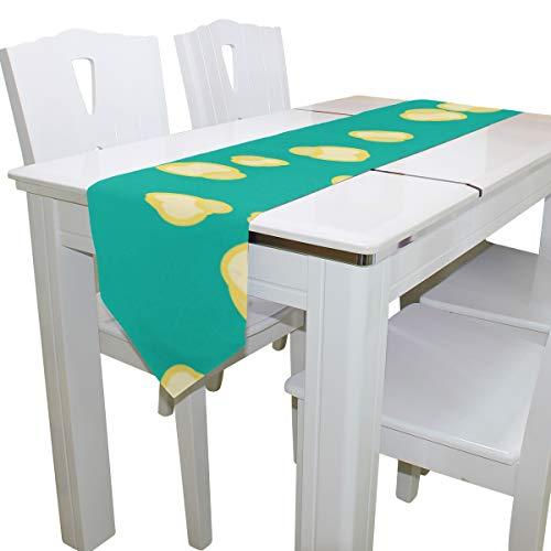 Colección de Bolsos de Palomitas de maíz Mujeres Damas Bolsa de Lona Tote Table Runner Decor Interior 13x90 Pulgadas