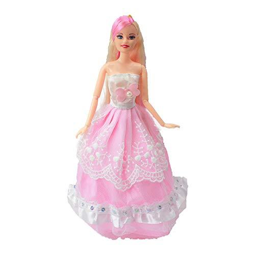 XKMY Muñeca Barbie 2021 princesa dulce muñeca moda fiesta vestido de boda móvil cuerpo conjunto clásico juguetes mejor regalo para Barbie niñas amigas, nuevo 99 (color : B, tamaño: 1 muñeca)