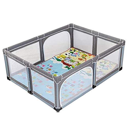 HXCD Parque para bebés con colchón, Corral de Seguridad Extra Grande para niños pequeños, antivuelco, Seguridad anticolisión, Valla para Juegos para niños (tamaño: 150 y Veces; 190 cm)