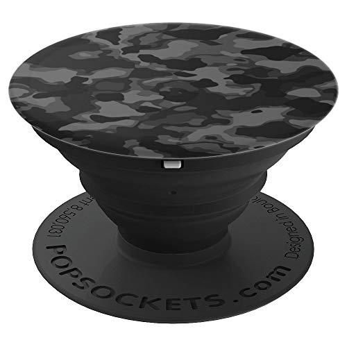 Camuflaje negro PopSockets Agarre y Soporte para Teléfonos y Tabletas