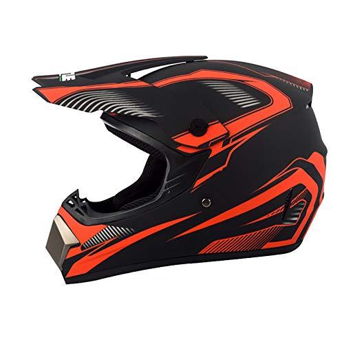 Casco Motocross Adulto con Gafas Mascarilla Guantes,Casco MTB Integral Descenso Enduro Moto...