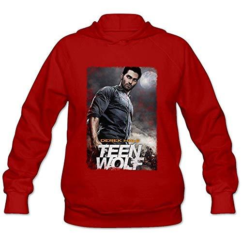 BAODING Women's Teen Wolf Hooded Pullover Sweatshirt