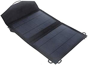 لوحة الطاقة الشمسية للتخييم 7 واط القابلة للطي، تعمل كشاحن يو اس بي لهواتف ايفون وسامسونج الذكية والأجهزة الالكترونية المحمولة [PA1525 ]