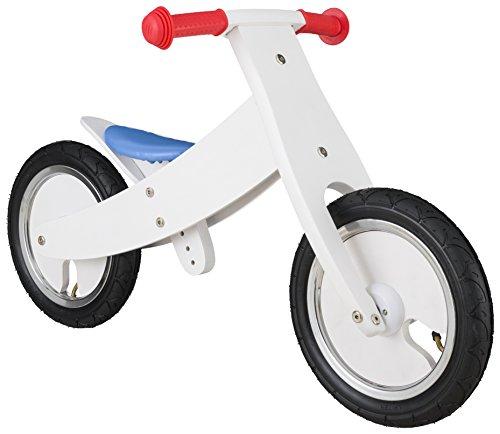 BIKESTAR Vélo Draisienne Enfants en Bois pour Garcons et Filles de 3 - 4 Ans | Vélo sans pédales évolutive 12 Pouces Croissante Cadre | Blanc