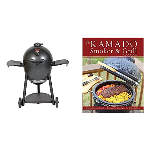 Char-Griller E16620 Akorn Kamado Charcoal Grill, Graphite & The Kamado Smoker and Grill Cookbook: Recipes and Techniques for the World's Best Barbecue