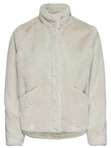 Only Onlvida Faux Fur Jacket Otw Noos Chaqueta, Gris (Pumice Stone Pumice Stone), Small para Mujer