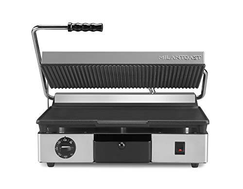 MILAN-TOAST 16031 PIASTRA IN GHISA GRANDE INFERIORE LISCIA - SUPERIORE RIGATA Elektrische Kochplatte für professionelle Küchen, Gusseisen