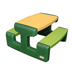 Little Tikes Großer Picknicktisch - Platz für bis zu 6 Personen - Für Hausaufgaben, Projekte und Spiele - Evergreen
