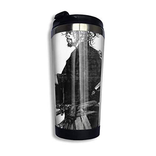 Vagabond-Manga Samurai Coffee Travel Mug Taza Vaso aislado al vacío de acero inoxidable 13.5 oz