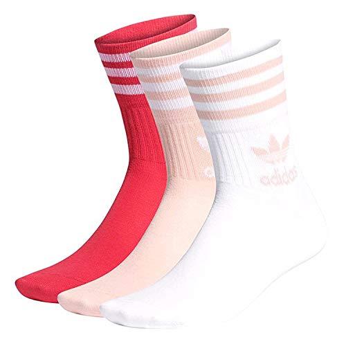 adidas Mid-Cut Crew Calcetines Multicolor para Niña GD3579 Rosa 34/36