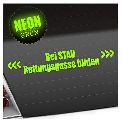 Kiwistar Bei Stau Rettungsgasse bilden 20 x 3,5 cm IN 15 Farben - Neon + Chrom! Sticker Aufkleber