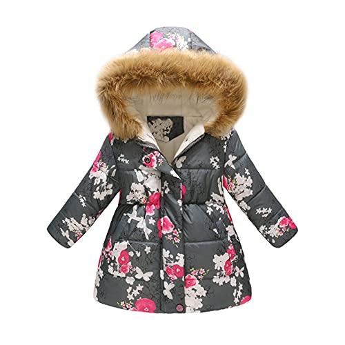 LIEIKIC Chaqueta de invierno para niña, chaqueta de...