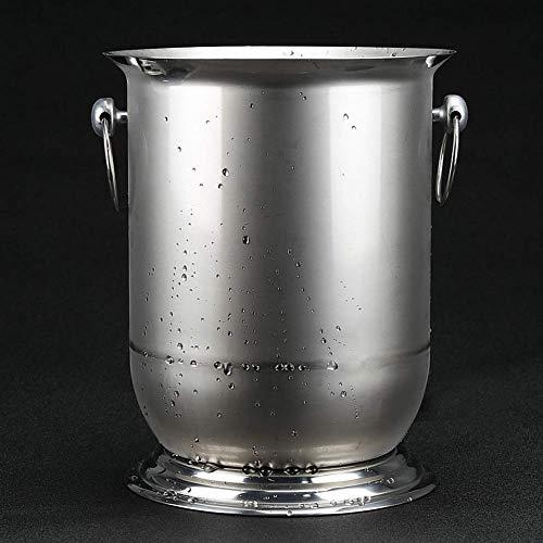 DYB Eiskübel für den Garten Eiskübel Rotwein Eiskübel Edelstahl Champagner Eimer Eiskübel Bierfass 5L Professional Metal Barware