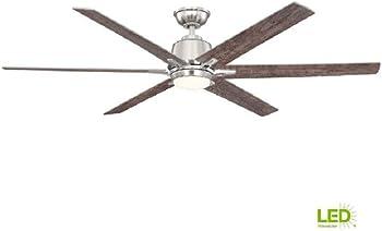 Home Decorators Kensgrove 64 in. LED Ceiling Fan (Brushed Nickel)