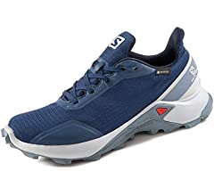 Salomon ALPHACROSS GTX W, Zapatillas de Trail Running para Mujer, Azul Sargasso Sea Pearl Blue Flint Stone, 36 EU: Amazon.es: Zapatos y complementos