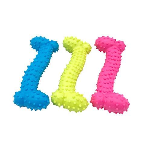 babyzhang 3 stücke Gummi Hundespielzeug mit Dorn Knochen Gummi Backenzähne Pet Spielzeug Hund beißen Beständig Backenzähne Ausbildung Hundespielzeug, 1