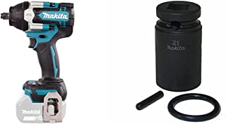Makita DTW700Z Brushless Impact Wrench, 18 V & Impact Bit Socket M14 x 52 insercion 1/2 Internal 21 mm Outer 28 mm 134833-2