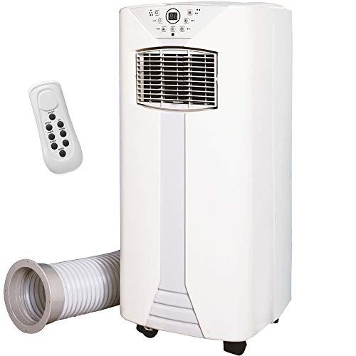 Syntrox Germany 3 in 1 Mobiles digitales Klimagerät mit 9000 BTU Klimaanlage Heizfunktion + Luftentfeuchter mit Fernbedienung LED-Anzeige Ablaufschlauch AC-2600W-9 Fresco