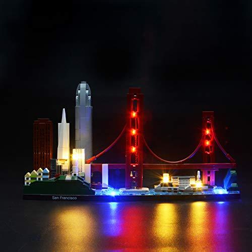 BRIKSMAX Led Lighting Kit for San Francisco Skyline Set-Compatible with Lego 21043 Building Blocks Model- Not Include The Lego Set