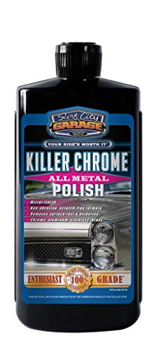 Killer Chrome All Metal Polish 16oz - Polishes & Cleans Aluminum, Chrome, Stainless Steel - Mirror Finish - No Scratching or Degrading The Metal