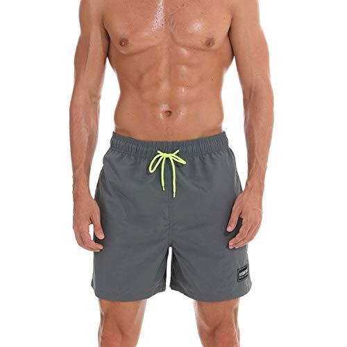 Durio Badeshorts für Männer Swim Shorts Beach Shorts Badehose für Herren Grau XL