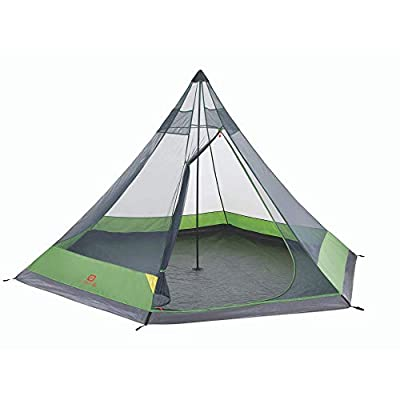 Outbound 6-Person Teepee Tent for Camping with Carry Bag and Rainfly | Water Resistant | 2 Season | Green