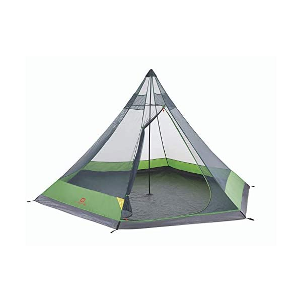 Outbound-6-Person-Festival-Tent-for-Camping-with-Carry-Bag-and-Rainfly-Water-Resistant-2-Season-Green