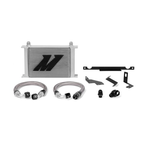 Mishimoto MMOC-EVO-01 Oil Cooler Heat Exchanger Kit Compatible With Mitsubishi Lancer Evo 7/8/9 2001-2007 Silver
