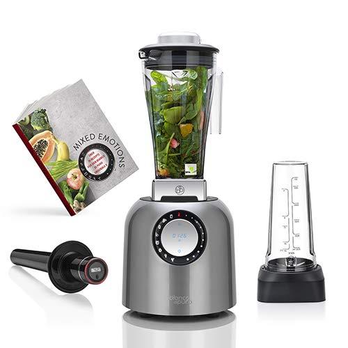 bianco di puro Hochleistungsmixer Puro S inkl. AufsatzTri-Set Smoothie Maker 8 Mixprogramme 2 Liter Mixbehälter BPA-frei