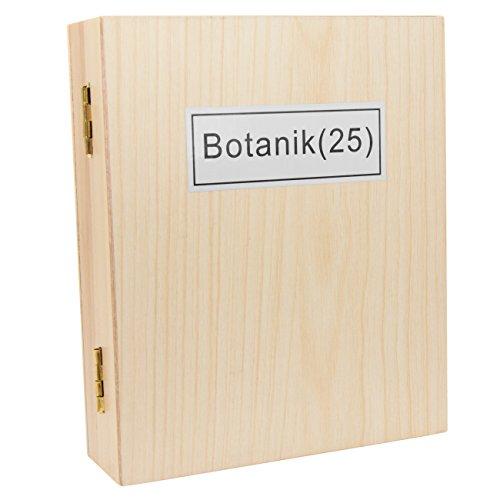 TS-Optics 25 Stück Botanik Dauerpräparate für Mikroskope Mikroskopie in Holzbox mit deutscher Beschriftung auf Objektträger Deckgläser. Tsmdpb