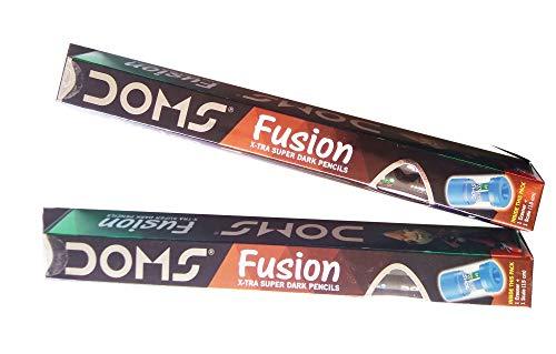 DOMS Fusion X-tra Super Dark Pencils (Set of 2 Packets - 20 Pencils)