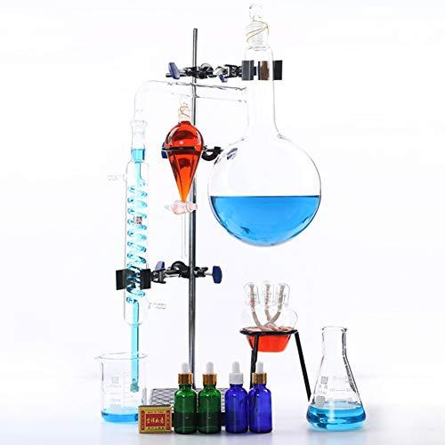 TTSUAI 2000Ml Labor Ätherisches Öle Destille Rein Wasser Gerät Glaswaren Satz