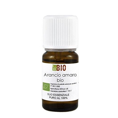 Olio essenziale ARANCIO AMARO BIO 10ML 100% PURO E NATURALE - AROMATERAPIA COSMETICA ALIMENTARE
