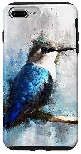 iPhone 7 Plus/8 Plus Humming Bird Blue Teal Bird Wildlife Animal Watercolor Artsy Case