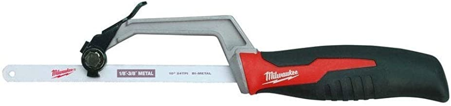 Milwaukee 48-22-0012 Compact Hand Operated Hack Saw w/ Tool-Less Blade Change (10 Inch..