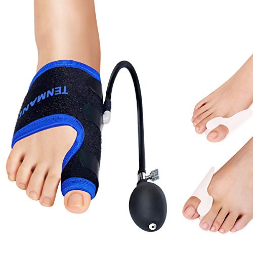 Bunion Corrector and Toe Straightener & Adjustable Orthopedic Pneumatic Bunion Splints Relief Hallux Valgus Bunion Pain with Splint Aid Treatment for Women and Men (Right Foot)