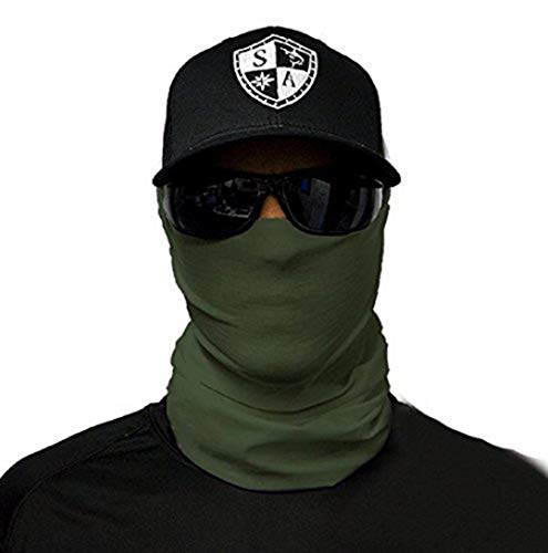 A.S.98 SA Fishing Company Face Shield Sturmhaube Multiunktionstuch Maske Fishing Schal Bandana Gesichtsmaske Halstuch Ski Motorrad Paintball Maske (Taktisch Grün)