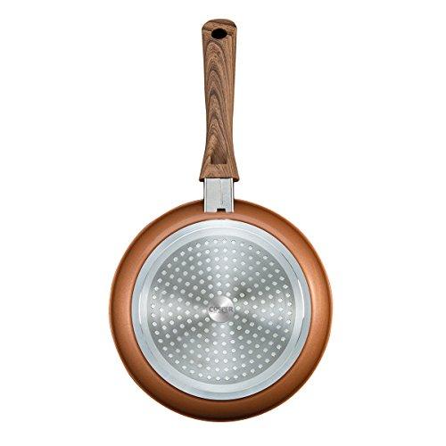Padella Copper Stone / Padella Spessa 4,8mm in Pietra / Ø 20 cm / Perfetta Tecnologia Antiaderente / Estremamente Resistente all'Usura / Dissipazione Dinamica del Calore