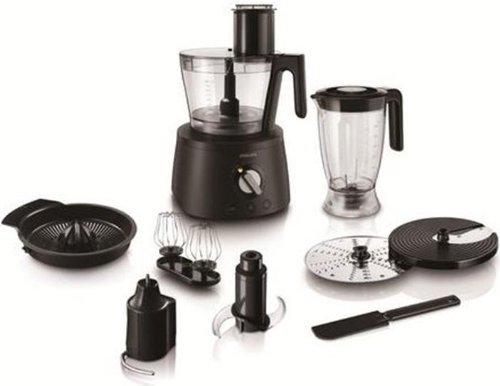 Philips Robot da Cucina 3 in 1 HR7776/90 Multifunzione con Frullatore + Spremiagrumi + Impastatore, Avance Collection, 1300 W, ABS, Materiale plastico, Acciaio Inox, Nero