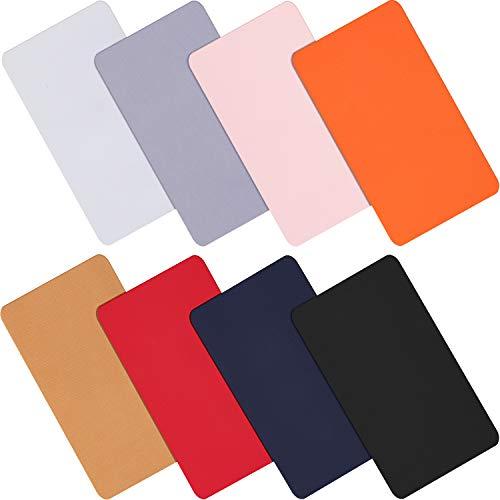 WILLBOND 8 Stücke Nylon Reparatur Patches Selbstklebende Nylon Patches wasserdichte Reparatur Patches für Kleidung Daunenjacke Zelt Kleidung Tasche (Sortierte Farben)