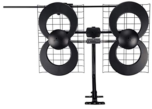 Antennas Direct ClearStream 4V TV Antenna, 70+ Mile Range, UHF/Vhf, Multi-Directional, Indoor, Attic, Outdoor, Mast W/Pivoting Base/Hardware/Adjustable Clamp/Sealing Pads, 4K Ready, Black – C4-V-CJM. Buy it now for 109.99