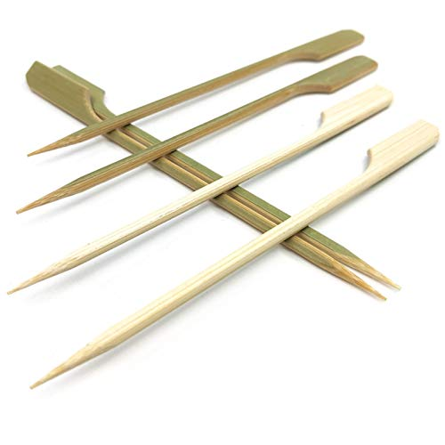 3.5 inch Bamboo wood wooden Paddle Picks Skewers Toothpicks for CocktailAppetizersFruitSandwichBarbeque Snacks.More Size Choices 3.5''/ 4.7''/ 7''/ 10'' (Pack of 100)